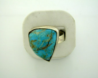 Sterling Silver Ring with Turquoise - size 11