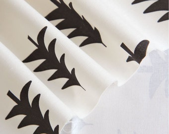 Oxford Cotton Fabric Tree Off White By The Yard