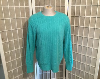 1980s Cable Cashmere Sweater Large