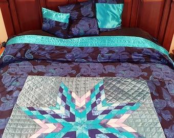Gorgeous Blue Bethlehem Star Quilt