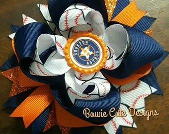 Houston Astros Boutique Bow