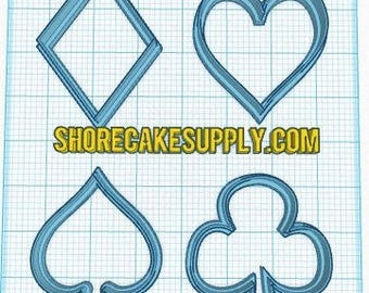 Card Suits Cookie Cutter Fondant Cutter Set