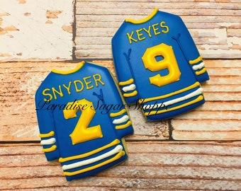 1 Dozen Hockey Jersey cookies