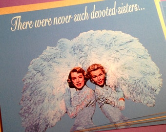 "Sale~6.00 for 2 cards w/ envelopes, Print sizes also available . ""Sisters"" card, Inspired by the movie ""White Christmas"""