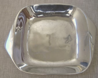 """Nambe Open Square 2 Qt Casserole #515 13"""" Vintage BY NAMBE Mark Aluminum Alloy USA"""