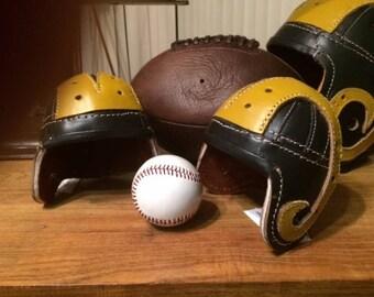 Leather Ram  1948 style mini leather football helmet