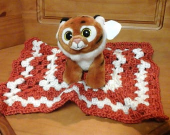 Tiger Ty Stuffed Toy &  Crochet lovey