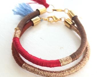 Tassel Bracelet, Friendship Bracelet, Woven Bracelet
