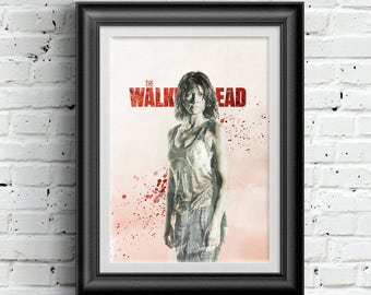 0180 The Walking Dead Maggie Greene Poster A3 Wall Art Print Multiple Sizes