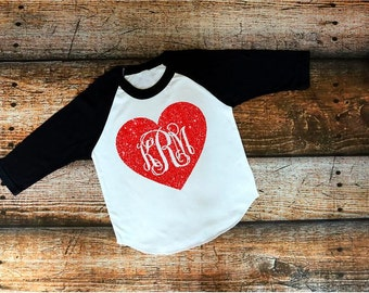 Heart, Love, Buffalo Plaid, Pink, Baseball Tee, Valentines shirts