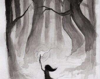 into the woods - fine art print - 5x7