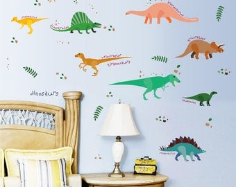 Removable Wall Stickers - Nine Dinosaurs  - AW7071