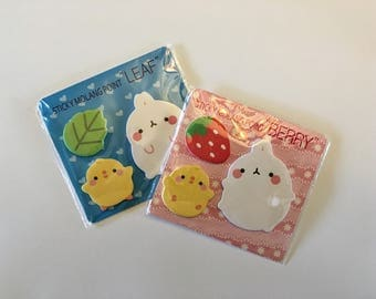 Molang bunny mini sticky papers.