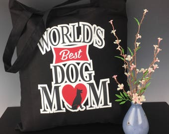 World's Best Dog or Cat Mom Tote Bag