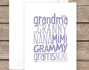 Pregnancy Announcement Card, Grandma Card, Pregnant Card, Pregnancy Card, Baby Card