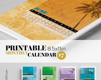 Spot On Nature – Monthly Printable Calendar 2017 - 8,5x11, photography, wall calendar, photo calendar, nature calendar, office gift