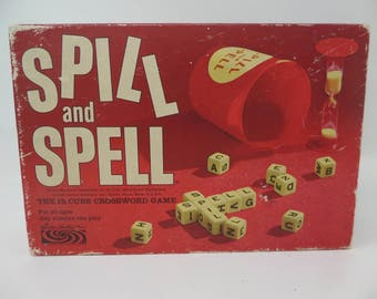 Spill and Spell Game - 1966 Vintage