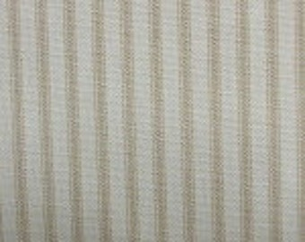 Ticking Stripe Pillow Cover - Magnolia Home Fashions Berlin Sand - Pillow Covers - Custom Sizes Available - Zipper Closure