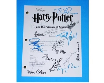 Harry Potter and The Prisoner of Azkaban Signed Script Rpt Daniel Radcliffe