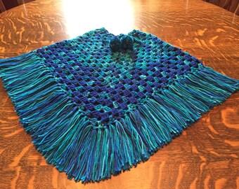 Crochet ponchos size 6 Handmade