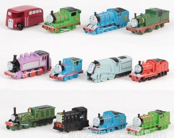 "Thomas Train & Friends CAKE TOPPER 1-1/2 - 2"" (12 Figure Set) Birthday Cake Topper PVC Figurines Toy"