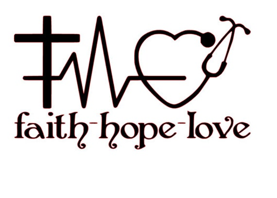 Download Faith - Hope - Love for Nurses SVG File from ...