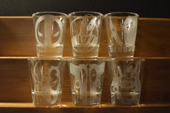 Deadpool shot glass set of 6