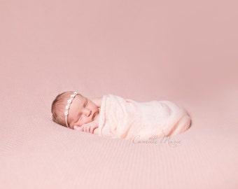 Small Pink Flowers Headband, Baby Headband, Newborn Headband, Skinny Nylon Headband, Flower Headband, Girl Headband