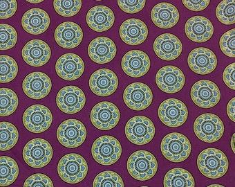Destash!  Purple cotton fabric, geometric fabric, fabric deals, clearance fabric, sale fabric, fabric circles, Heritage studio collection