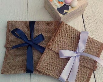 Favor Bags - Burlap Wedding Favour Bag- Envelope Rustic Favor Bag - Rustic Favour - Favor Bag - Gift Bag - Rustic Wedding - Set of 25