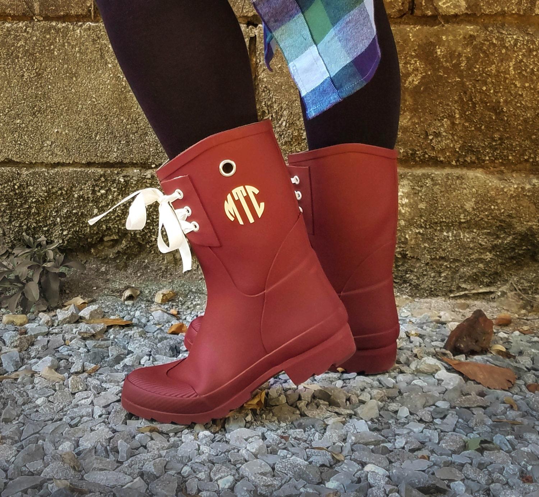 monogrammed rain boots womens rain boots christmas gift for