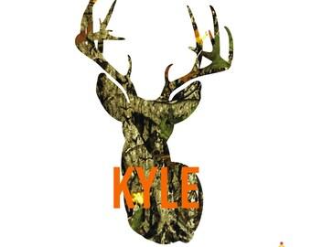 Camo Deer Decal, Yeti Decal for Men, Deer Decal, Yeti Decal Deer, Hunting Decals, Yeti Decal Men, Deer, Cooler Decals, Deer Decal for Yeti