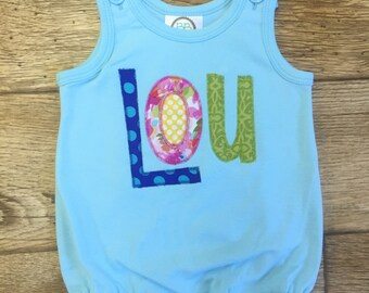 Personalized applique Bubble