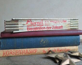 German Wooden Folding Ruler, Slide Extension Ruler 6 Foot, White Folding Wood Ruler, Locking Ruler