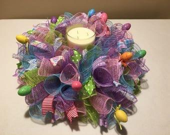 SALE Easter centerpiece/ Easter egg centerpiece/ Easter table centerpiece / Easter candle ring/ Easter bunny centerpiece/ Easter candle hold