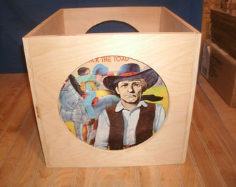 vinyl record crate, L.P. crate, vinyl record storage, vinyl record holder, record storage