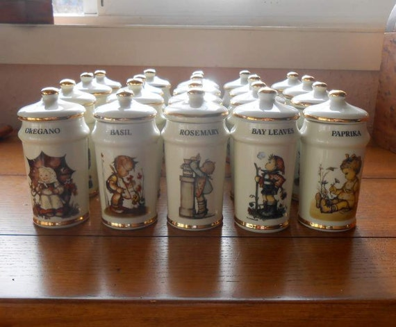 19 Hummel Spice Jars Collection