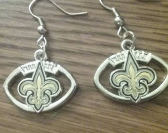 New Orleans Saints football earrings