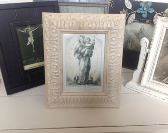 Marie Immaculee /Antique Copy/ Framed Religious Print