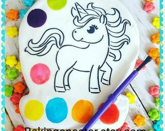 12 gourmet sugar cookies: unicorn