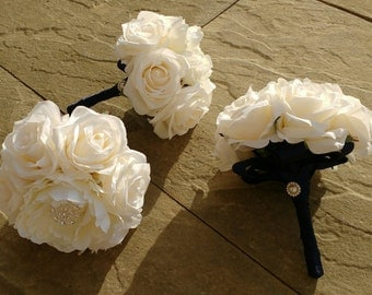 Silk flower Bridesmaid bouquet posie , any colour