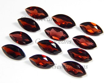 25 Pieces Lot AAA Quality Garnet Marquise Shape Faceted Cut Loose Gemstone