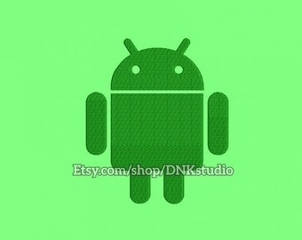 Android Embroidery Design - 6 Sizes - INSTANT DOWNLOAD