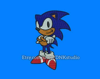 Sonic the Hedgehog Embroidery Design - 5 Sizes - INSTANT DOWNLOAD