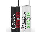 Senior 2017, Senior Gifts, Senior Night Gifts, Class of 2017 tumbler, Personalized Stainless Tumbler, Custom Steel Tumbler, Graduation Gift