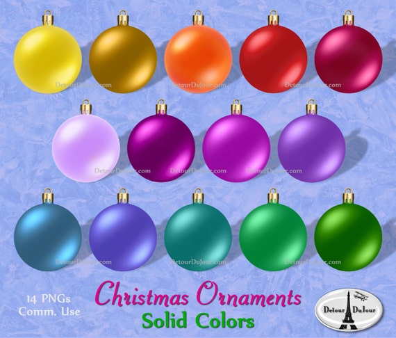 Sale assorted christmas ornaments clipart plain
