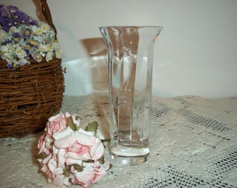 Wedgewood  Crystal Bud Vase Signed Vintage Crystal Excellent Condition Perfect for Gifting