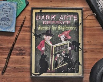NEW!!** Vintage style wooden Harry Potter 'Dark Arts Defence' sign.