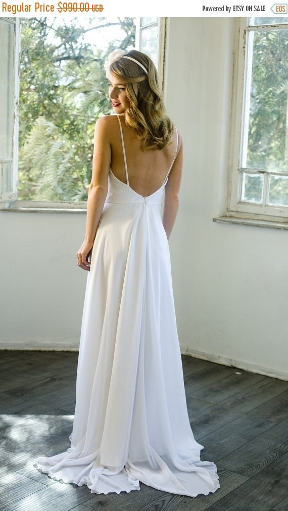 Black friday sale romantic white chiffon by motilbespokebridal for Black friday wedding dresses