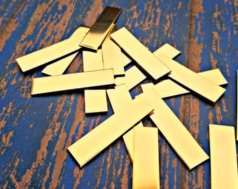 """Nu Gold 5/8"""" x 2"""" Rectangles Stamping Blanks - Qty 5"""